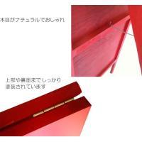 木製 A型 立て看板 赤 黒板 看板 両面使用 メニューボード 店舗用|atmack|03