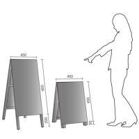 木製 A型 立て看板 赤 黒板 看板 両面使用 メニューボード 店舗用|atmack|05