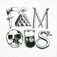 FAMOUS STARS AND STRAPS SYMBOLS Tシャツ 半袖 白 Tee White フェイマススターズアンドストラップス