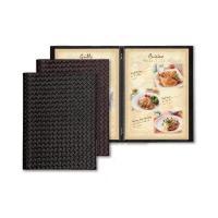 メニューブック 洋風 A4・4ページ 飲食店用 合皮・ピンタイプ LPU-301  メニューブック ...