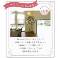 光の楽園 プリティーローズ(※ラッピング不可) 547a40【Artificial flower Houseplant】【光触媒 造花 人工 観葉 植物 ギフト アレンジメント アート】