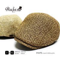 メンズ ペーパー素材 ハンチング 帽子 ゴルフ 大きいサイズ対応 ペーパーハンチング 麦わら 帽子 メンズ帽子 涼しい 夏 RUBEN ルーベン PAPER HUNTING