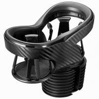 カーメイト CARMATE ツインカップホルダー クワトロ X カーボン調 BLACK EDITION DZ523 ブラック