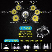 即納!一年保証!LEDヘッドライト RJ-5000 CREE製 L2 6000ルーメン  米国 4段階点灯 SOSの効能 防水 懐中電灯/CREE/軽量/コンパクト【充電式電池&充電器付】|autoone|03