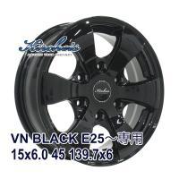 ■KIRCHEIS VN 15x6.0 +45 139.7x6 BLACK:インチサイズ:15インチ...
