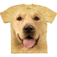 S-Lサイズ The Mountain Big Face Golden メンズ ビッグフェイス イヌ レトリバー メーカー直輸入品 Tシャツ