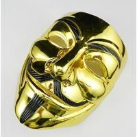 送料無料 アノニマス V for Vendetta Mask ガイ フォークス 仮面 マスク コスプレ 衣装 ハロウィン イベント 金 (ゴールド)