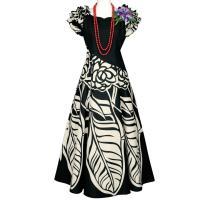 2色のコントラストが美しいドレス。 肩のギャザーフリルの下にはきちんと袖が付いています。  【サイズ...
