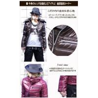 ダウンジャケット メンズ 4カラー シレ加工 光沢 中綿 ジャケット A  秋冬コーデ用クーポン配布中