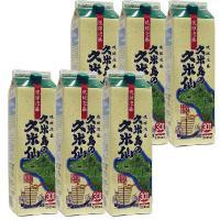 泡盛 紙パック 久米島の久米仙 30度 1800ml×6本|awamoriclub