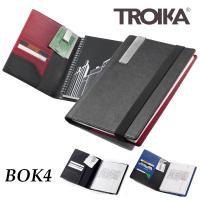 A5サイズのノートパッドが付いたノートカバーです。 内側には5つのカードポケットにマネー/メモクリッ...