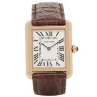 カルティエ 時計 CARTIER W5200024 タンクソロSM レディース ピンクゴールド ブラ...