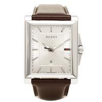 グッチ 時計 メンズ GUCCI YA138405 Gタイムレス 腕時計 ウォッチ シルバー/ブラウ...