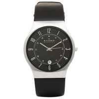 スカーゲン 時計 メンズ SKAGEN 233XXLSLB レザー 腕時計 ウォッチ ブラック  「...