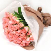 【フラワーギフト 送料無料 誕生日 お祝い 記念日 お見舞い 花束 ピンク系 薔薇 バラ ばら】  ...
