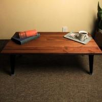 無垢材 折りたたみローテーブル カフェ 貼り合わせ カフェ 折りたたみ ローテーブル おしゃれ