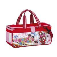 小学生用の絵の具を入れるバッグと水彩絵の具、筆、パレットなどを一式にした絵の具セットです。小学校の授...