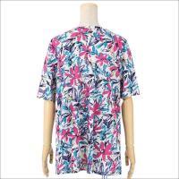 チュニック Tシャツ カットソー  5分袖 花柄 レディース