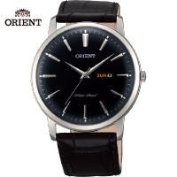 日本が誇る時計メーカー オリエントのヨーロッパ限定腕時計 クォーツ時計。クラシカルな風防とクロコ型押...