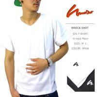 WRECKSHOTからプレーンタイプのVネックTシャツ登場です!シンプルなアイテムで人気のあるVネッ...