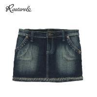 【商品コメント】  デニムのミニススカートになります。 ステッチのデザインが珍しいです!