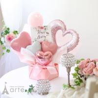 可愛らしく、エレガントらしさもプラス した 「アニバーサリー」バルーンアレンジ 結婚や誕生日プレゼン...