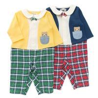 1枚でおしゃれに決まるセパレート風デザインのカバーオール♪後には襟がなく、ねんね期の赤ちゃんも安心◎...