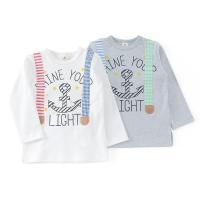 人気のサスペンダー風のTシャツも色合いを明るくカジュアルに!手書き風のプリントでナチュラル感もプラス...