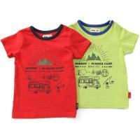 今年の夏休みはサマーキャンプで決まり!?お手頃価格だけどおしゃれに見せてくれる☆2配色のTシャツです...