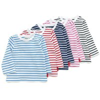 ベーシックボーダーTシャツはたくさんの色から選びたーい!5色展開だからお気に入りが見つかるかな☆洗っ...