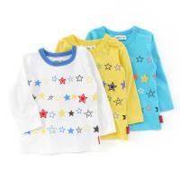 刺繍モチーフがポイントの星柄Tシャツでポップな気分に変身!!  ■写真1枚目左から:オフホワイト/イ...