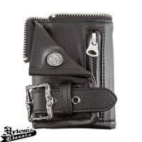 アルテミスクラシックらしいオリジナル金具をあしらったダブルライダースデザインの小型の財布&キーケース...