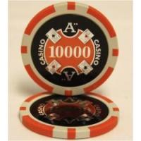 QuattroAssi クアトロアッシーポーカーチップ(10,000)橙 25枚セット - カジノチップ、ポーカーチップ
