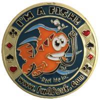 商品詳細 商品名:カードプロテクター・カードスピナー「I'm A Fish」 −ポーカー用カードプロ...