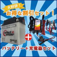 リーズナブルな高性能バイク用鉛バッテリーと充電器のセットです。お客様にて電解液を注入・充電の上、ご使...