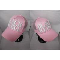 メンズメッシュキャップ BLACK REBELロゴ ピンク サイズ調節可能 男女兼用
