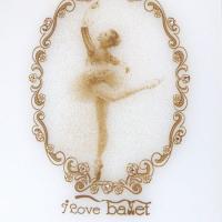 便利なバレエ雑貨♪バレリーナ柄のおしゃれなミラー(スタンド鏡)です。ギフト商品としてもお勧め。 ☆ギ...