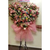 めずらしい生花とバルーンのスタンド花 開店祝い、コンサート、お祝い。札付き。  全体の高さ250cm...