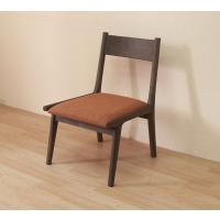 座面の高さが低い椅子 座面高37cm AZC-331 疲れにくい椅子 木製椅子 木製チェア ブラウン色 (こげ茶色)