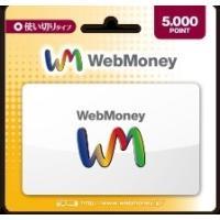 コード専用   WebMoney ウェブマネー カード 5000ポイント(5000円分)【Yahoo】ポイント消化に