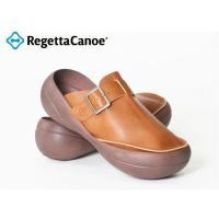 リゲッタカヌー Regetta-Canoe カヌービッグソール・ベルト付き本革サボ/クロッグ/日本製...
