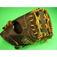 型付け無料 ゼット ZETT 硬式用 ファーストミット ブラック×タンヒモ 高校野球対応カラー 硬式 ファースト ミット