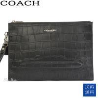 コーチ COACH バッグ セカンドバッグ メンズ クラッチバッグ 本革 アウトレット ブラック 黒