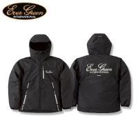 肌寒い時期に大活躍するフード付フロントジップジャケット。柔軟撥水加工生地を採用し、中綿には軽量でも暖...