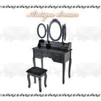 ◆◇ドレッサー◇◆  ◆三面鏡ドレッサーのご紹介です。  ◆中央の鏡と左右の鏡は自由に動かせるので、...