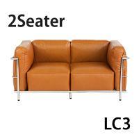 ■あまりにも有名なル・コルビジェのデザインした「LC3」ソファ。シンプルで、品のあるデザインはまさに...