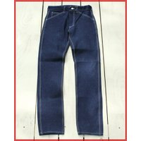 Round House Special Made Slim Work Pants Blue Denim White Stitch / ラウンドハウス 別注 スリム ワークパンツ ブルー デニム ホワイト ステッチ