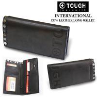■コメント TOUGHシリーズから、二つ折りの長財布が登場!多少赤みがかったムラ感のある牛革に、タフ...