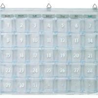 ウォールポケット マチ付お薬カレンダーにも オールクリア ウォール ポケット W-418