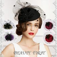 チュールベレー帽 カクテル帽 礼装帽子 トークハット トーク帽 ヘッドドレス 結婚式披露宴パーティー...
